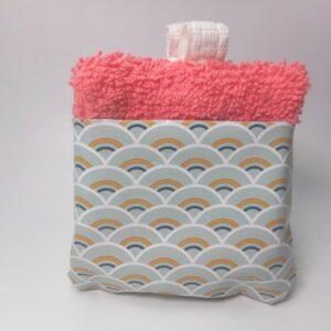Lingettes lavables démaquillantes réutilisables rose